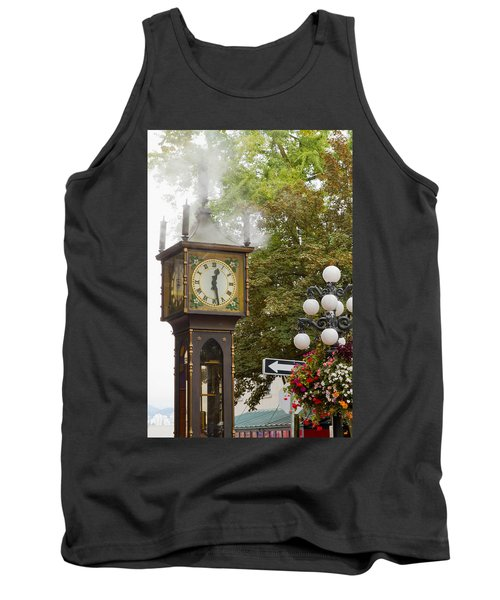 Tank Top featuring the photograph Vancouver Bc Historic Gastown Steam Clock by JPLDesigns