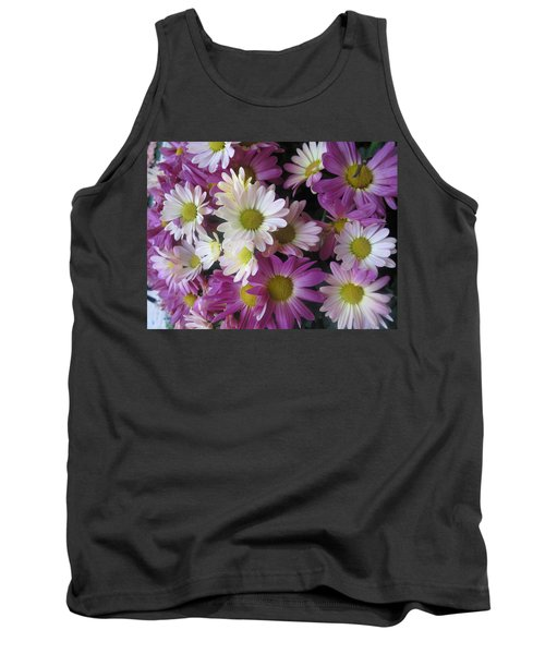 Tank Top featuring the photograph Vegas Butterfly Garden Flowers Colorful Romantic Interior Decorations by Navin Joshi