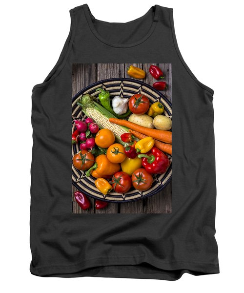 Vegetable Basket    Tank Top by Garry Gay