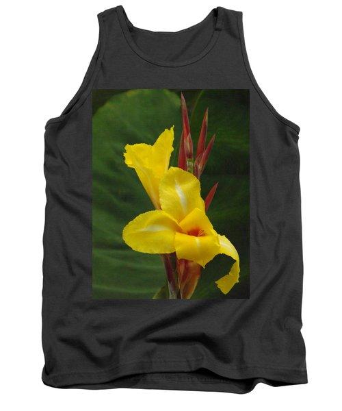 Velvety Yellow Iris  Tank Top
