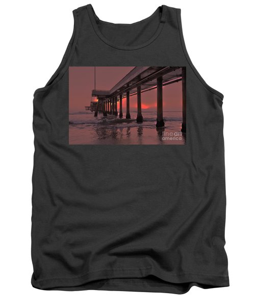 Venice Pier In Red Tank Top