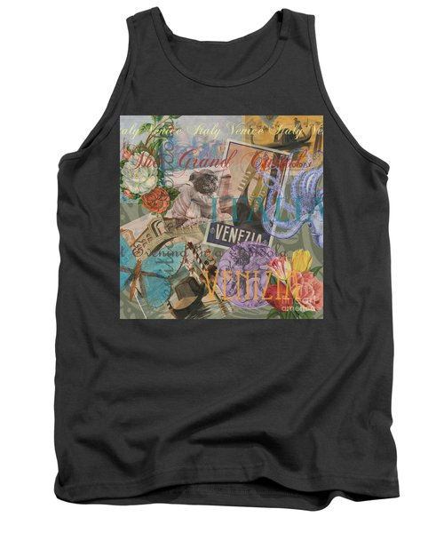 Venice Vintage Trendy Italy Travel Collage  Tank Top