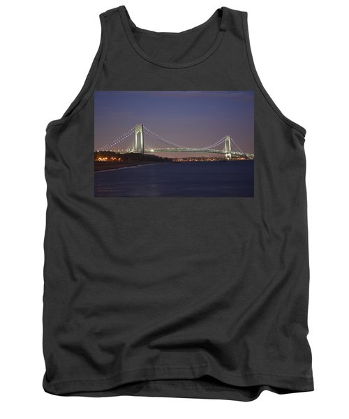 Verrazano Narrows Bridge At Night Tank Top