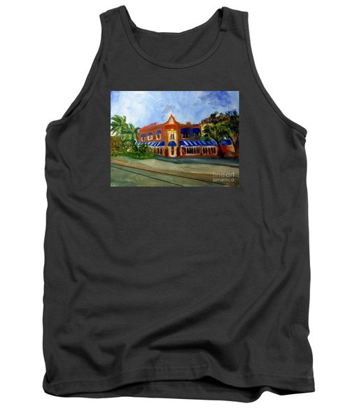 Vic And Angelos In Downtown Delray Beach Tank Top by Donna Walsh