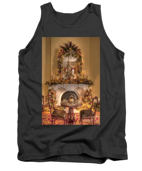 Victorian Christmas By The Fire Tank Top