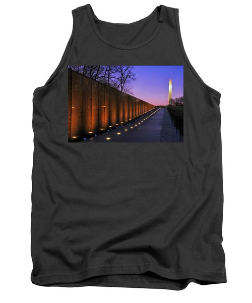 Vietnam Veterans Memorial At Sunset Tank Top