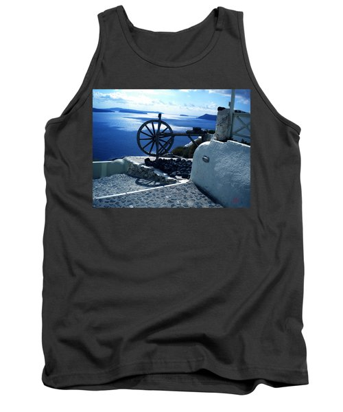 Tank Top featuring the photograph View From Santorini Island Greece by Colette V Hera  Guggenheim
