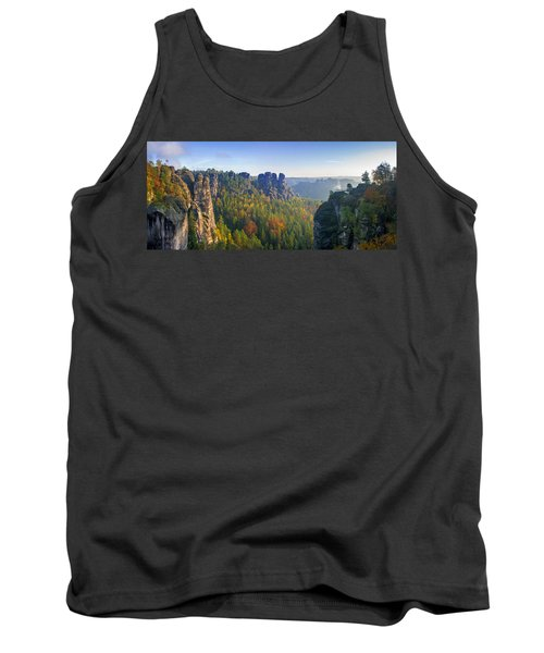 View From The Bastei Bridge In The Saxon Switzerland Tank Top