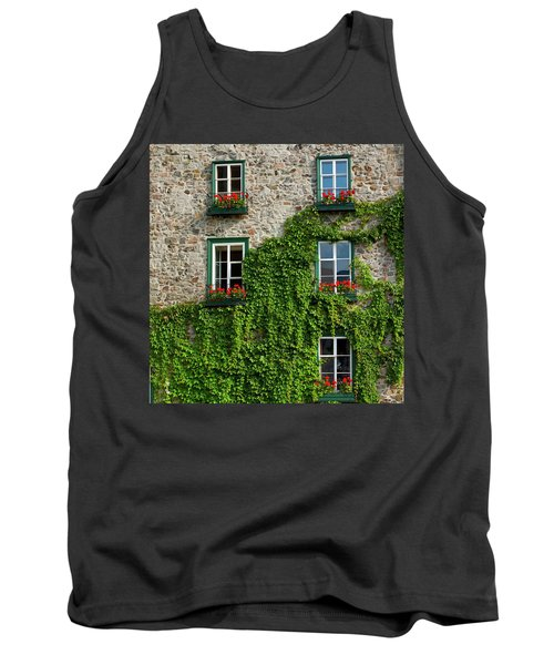 Vine Covered Stone House And Windows Tank Top