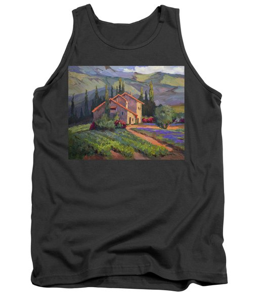 Vineyard And Lavender In Provence Tank Top