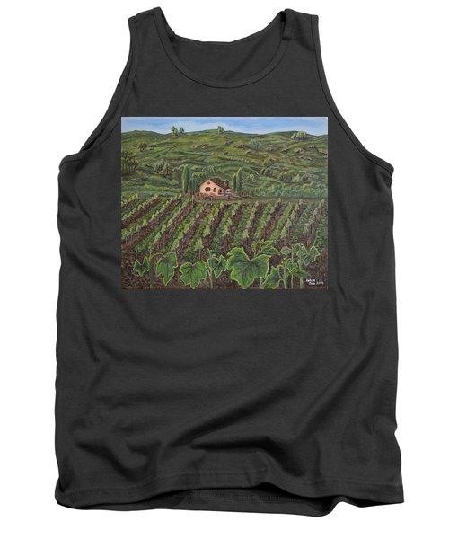 Vineyard In Neuchatel Tank Top by Felicia Tica