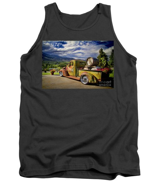 Vintage Chevy Truck At Oliver Twist Winery Tank Top