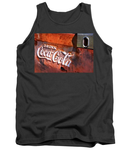 Tank Top featuring the photograph Vintage Coca Cola by Steven Bateson