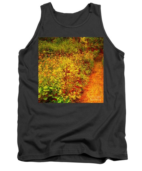 Tank Top featuring the photograph Vintage Garden Path by Terri Gostola