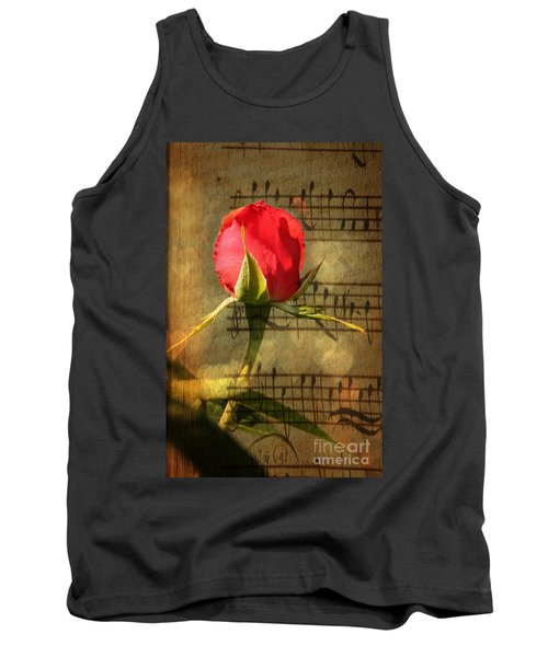 Tank Top featuring the photograph Vintage Love Story Symphony by Judy Palkimas