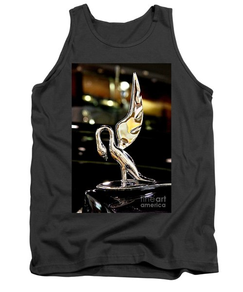 Vintage Swan Packard Hood Ornament Car Fine Art Photography Print  Tank Top by Jerry Cowart