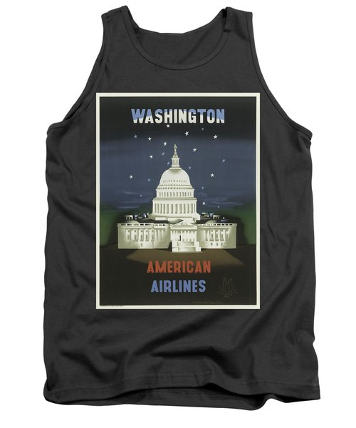 Vintage Travel Poster - Washington Tank Top