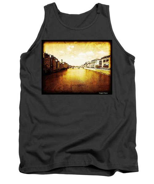 Vintage View Of River Arno Tank Top