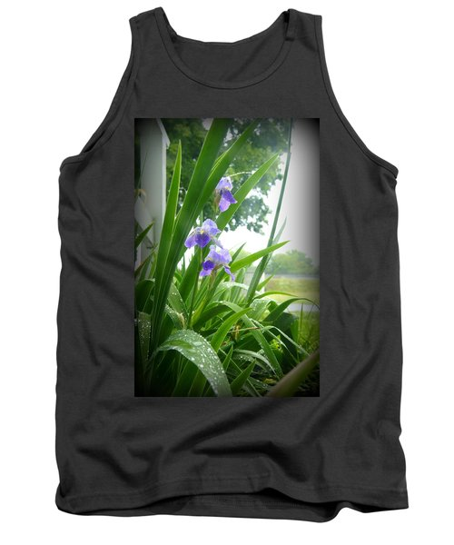 Tank Top featuring the photograph Iris With Dew by Laurie Perry