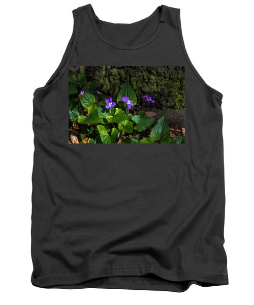 Violets Tank Top by Dorothy Cunningham