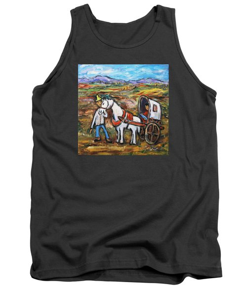 Tank Top featuring the painting Visit The In-laws by Xueling Zou