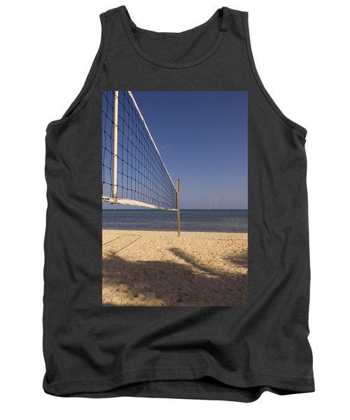 Vollyball Net On The Beach Tank Top