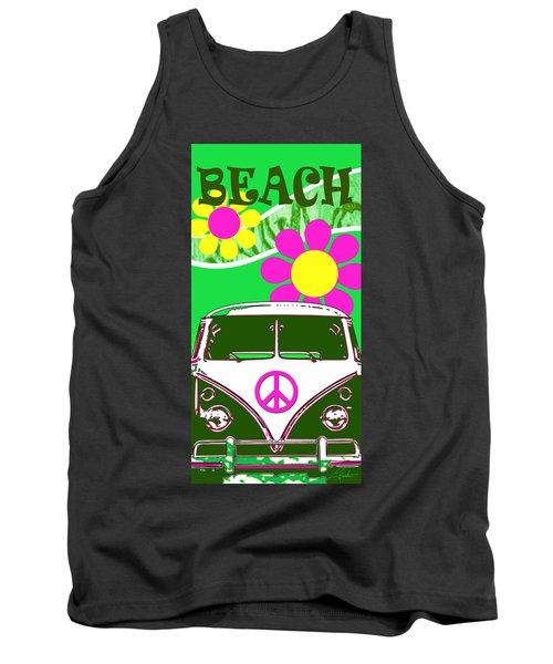 Vw Beach  Green Tank Top