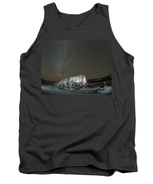 Wagon Train Under Night Sky Tank Top