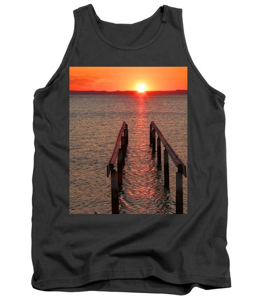 Tank Top featuring the photograph Walkway To The Sun by Alan Socolik
