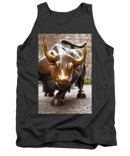 Wall Street Bull Tank Top by Brian Jannsen