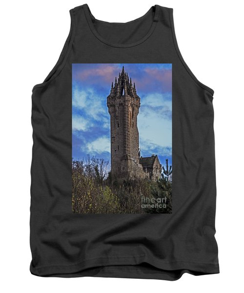 Wallace Monument During Sunset Tank Top
