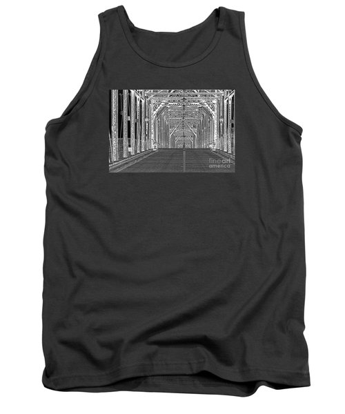 Tank Top featuring the photograph Walnut Black And White by Geraldine DeBoer