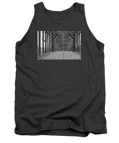 Tank Top featuring the photograph Walnut Street Bridge by Geraldine DeBoer