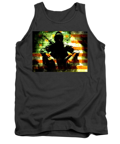 Tank Top featuring the painting War Is Hell by Brian Reaves