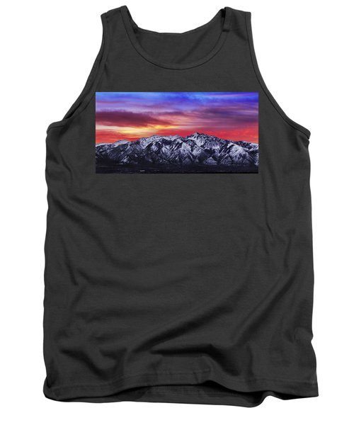 Wasatch Sunrise 2x1 Tank Top by Chad Dutson