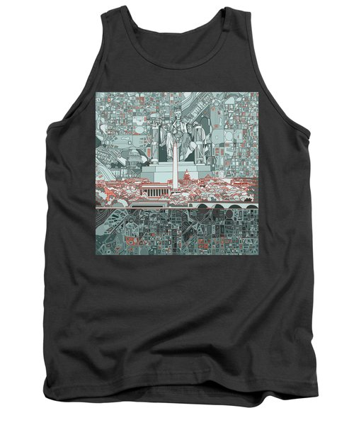 Washington Dc Skyline Abstract Tank Top