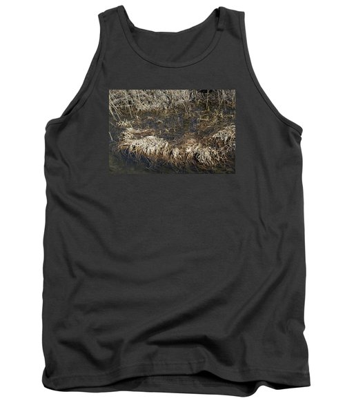 Dried Grass In The Water Tank Top