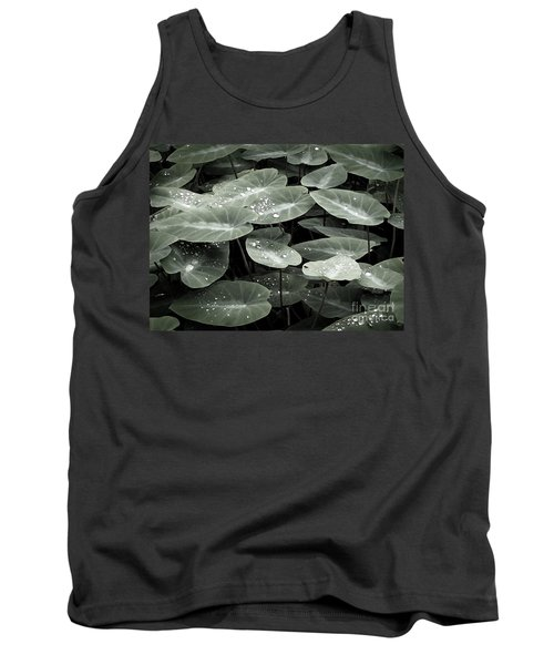 Tank Top featuring the photograph Water On Ivy by Ellen Cotton
