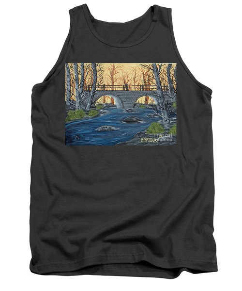 Tank Top featuring the painting Water Under The Bridge by Brenda Brown