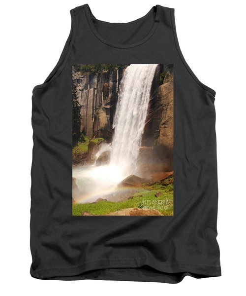 Tank Top featuring the photograph Waterfall Rainbow by Mary Carol Story