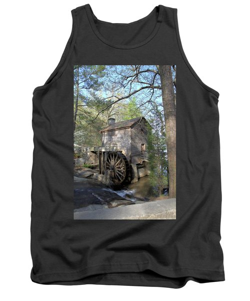 Tank Top featuring the photograph Waterwheel At Stone Mountain by Gordon Elwell