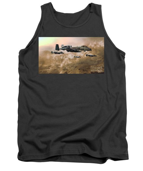 Tank Top featuring the painting Waypoint Alpha - Outline by Dave Luebbert