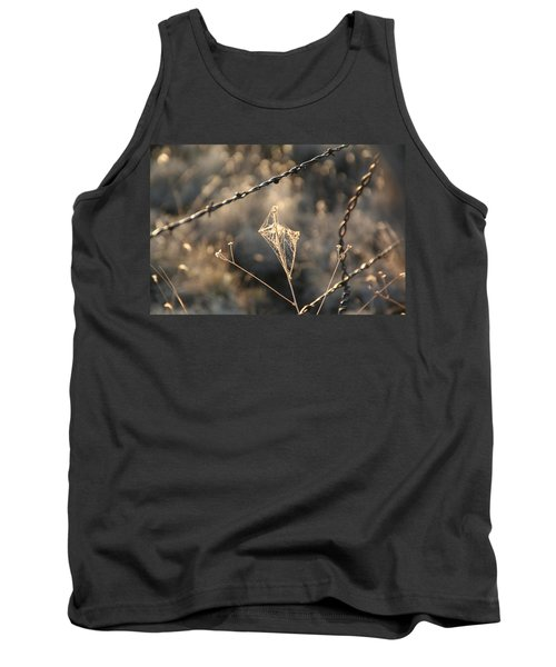 Tank Top featuring the photograph web by David S Reynolds