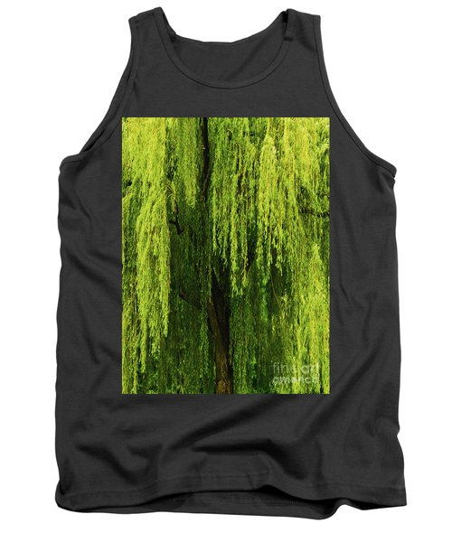 Weeping Willow Tree Enchantment  Tank Top by Carol F Austin