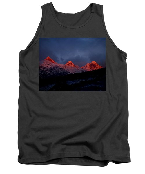 Tank Top featuring the photograph West Side Teton Sunset by Raymond Salani III