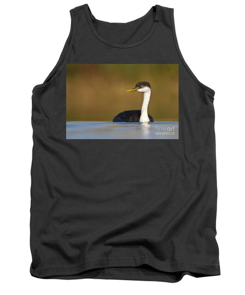 Tank Top featuring the photograph Western Grebe On The Lake by Bryan Keil