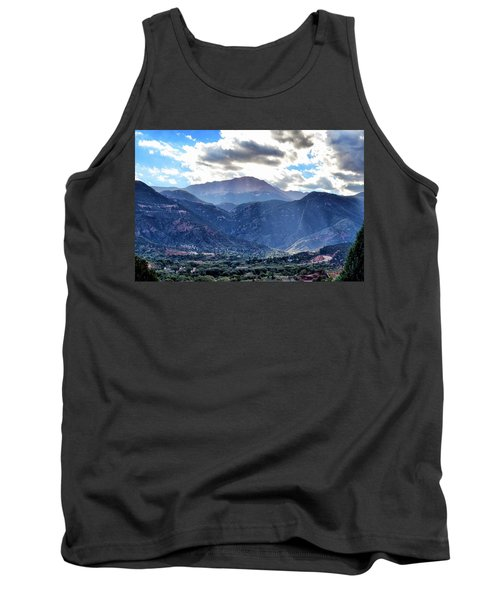 Tank Top featuring the photograph Westside Colorado Springs by Clarice  Lakota