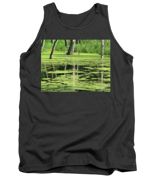 Tank Top featuring the photograph Wetland Reflection by Ann Horn