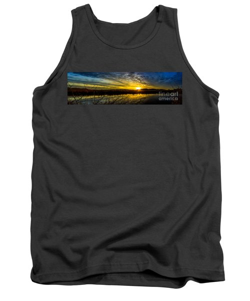 Wetlands Sunset Tank Top by Michael Cross