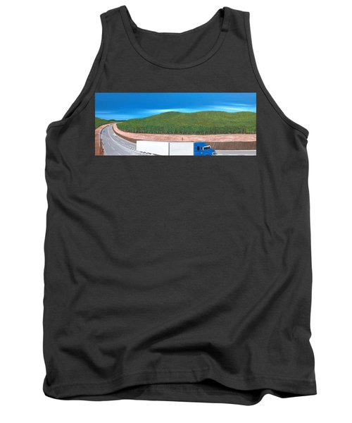 Tank Top featuring the painting What Happened To My Homeland by Tim Mullaney